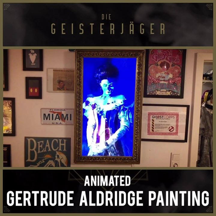 """Animated """"Gertude Aldridge"""" Painting for our booth"""