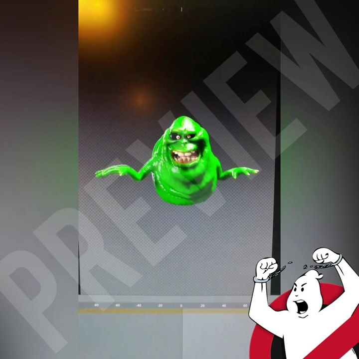 A new slimer animation for a hologram projection in our haunted room is in…