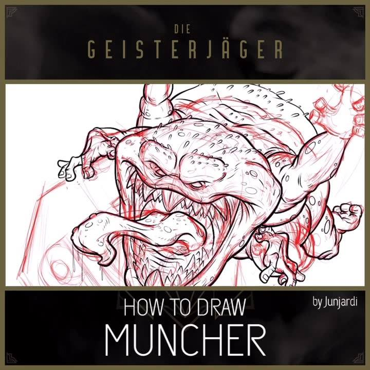 "How to draw ""Muncher"" from Ghostbusters Afterlife. Source:"
