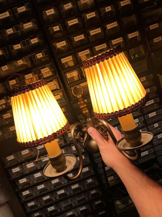 More antique lights for the mansion rooms