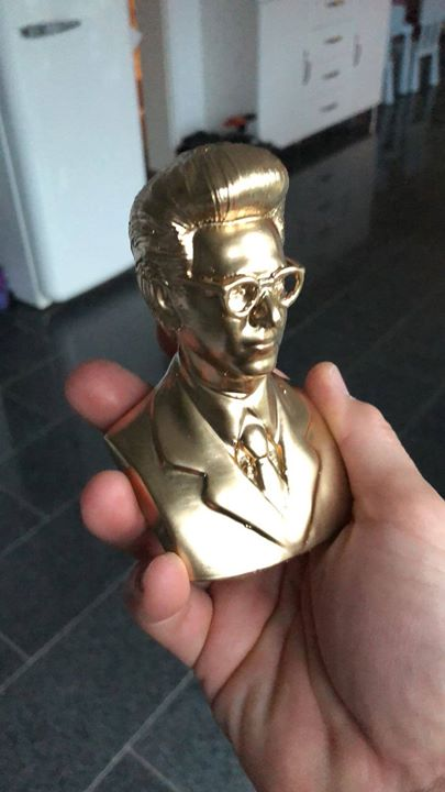 """this is the first prototype (small version) of our custom made """"spengler bust""""… a…"""