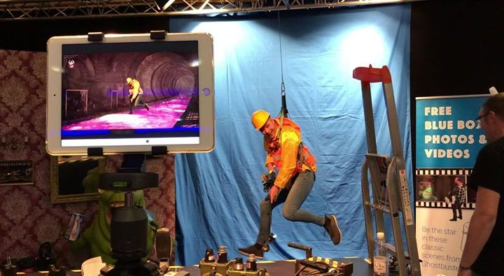 """maybe next year at our booth we will do this """"blue screen fun"""" for…"""